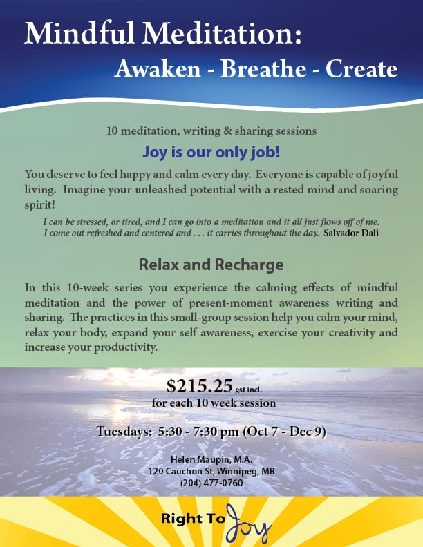 Mindful Meditation Oct 2014