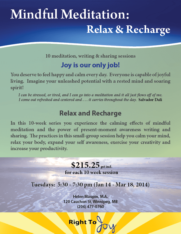 Relax Recharge Right Now Jan 2014