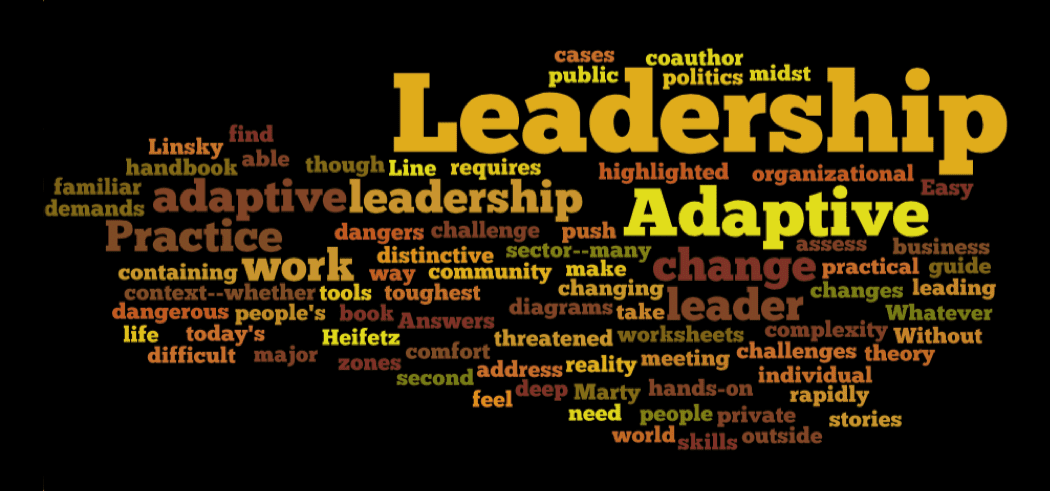 """adaptive leadership essay A vision and set the course for the organizations they lead but leaders  increasingly find this view lacking in his essay """"the globally integrated  enterprise."""