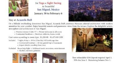 Yoga Getaway – San Miguel 2020